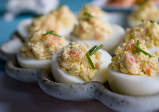Deviled Eggs with Smoked Salmon Eric Ripert