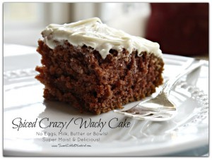 Spiced Crazy Wacky Cake No eggs Dairy 1